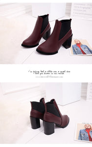 Half Short Ankle Boots Winter Martin Snow Botas Fashion Footwear Warm Chunky Heels Boot Shoes - Jeybeauty