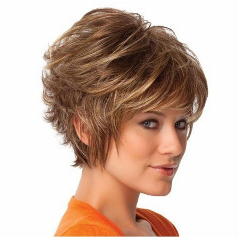 Short Curly Synthetic Hair Wigs Wavy Wig - Jeybeauty