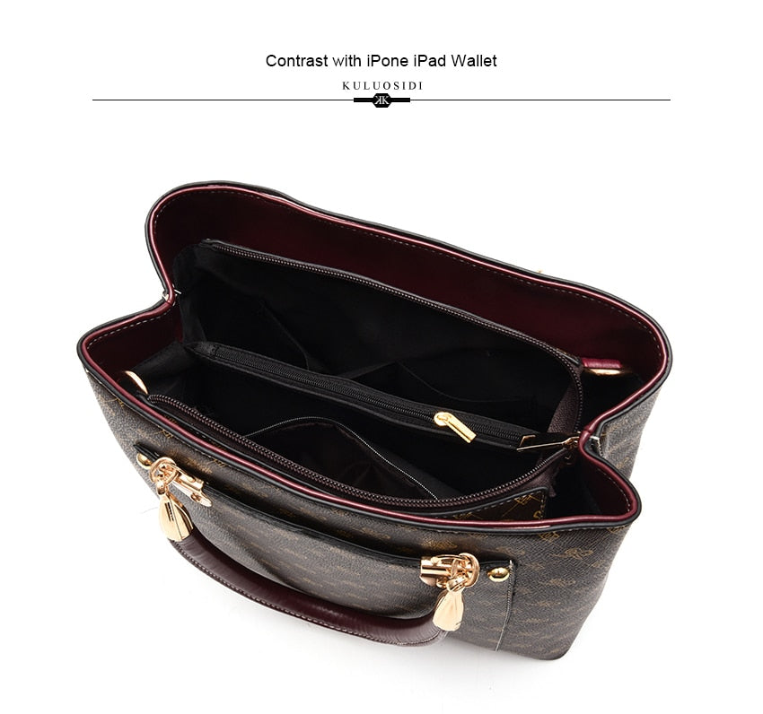 Leather Handbag Shoulder Bag - Jeybeauty