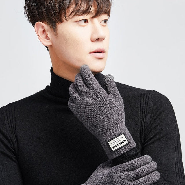 Men Woman Cashmere Knitted Men Thick Warm TouchScreen Gloves - Jeybeauty
