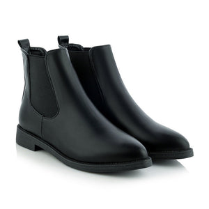s High Quality Pointed toe Leather  Boots - Jeybeauty
