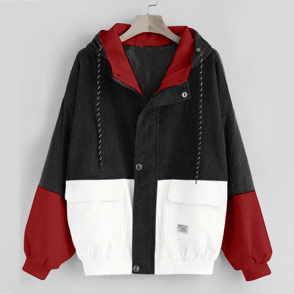 Patchwork  Windbreaker Coat - Jeybeauty