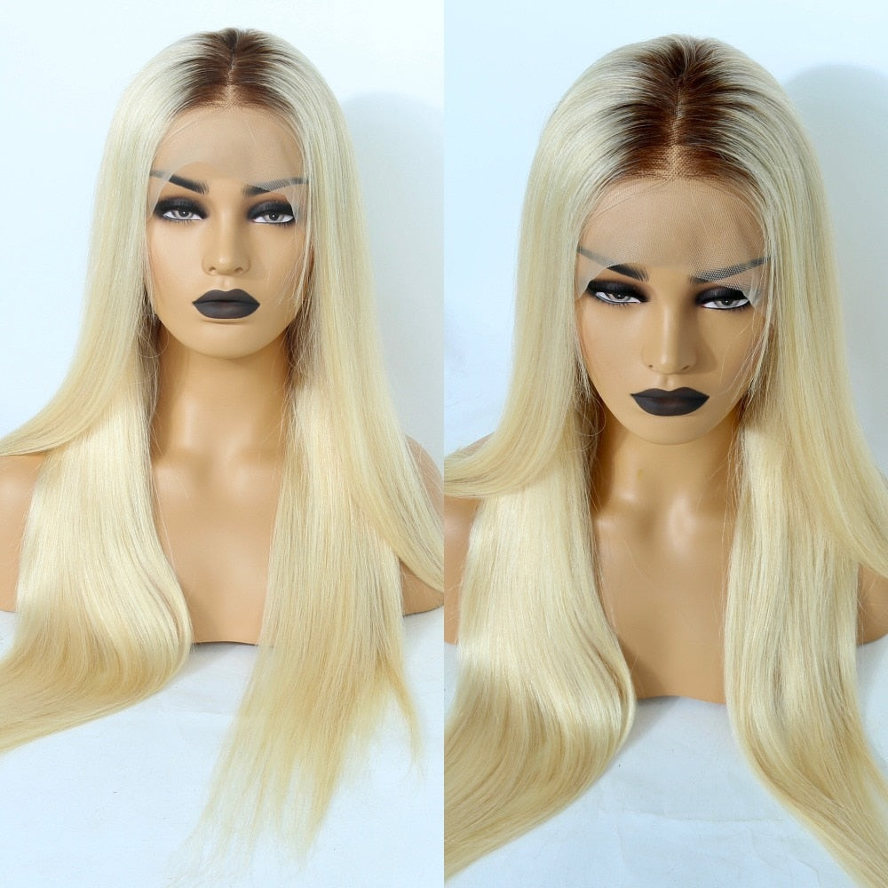 Platinum ombre Blonde Full Lace Remy Hair - Jeybeauty