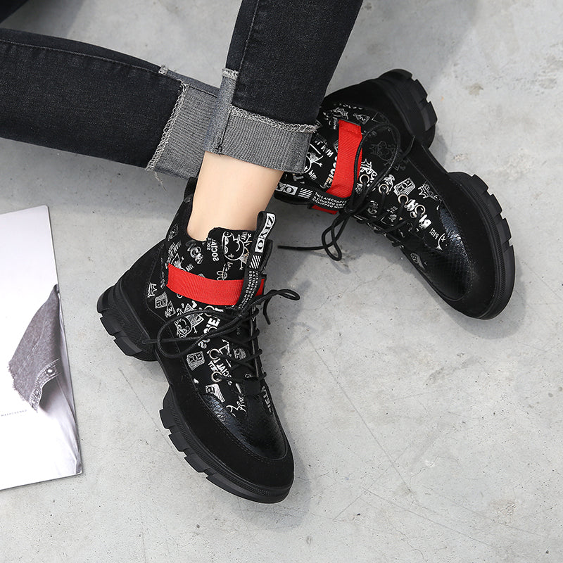 Breathable Sneakers plush Lace-Up Shoes - Jeybeauty