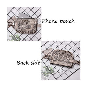 Snake Skin Waist Belt High quality Female Purse B31 - Jeybeauty