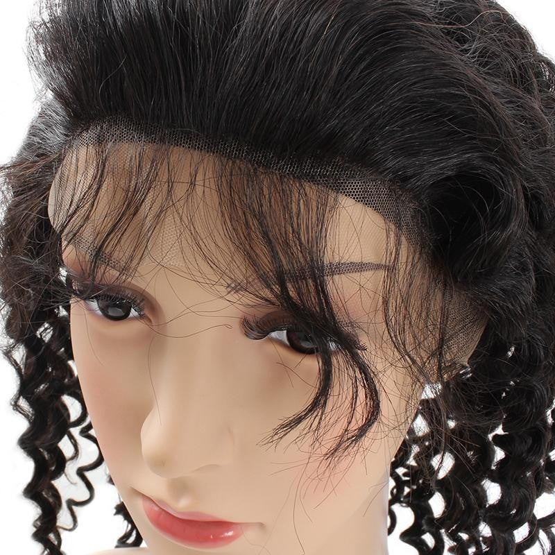 Brazilian Virgin Curly Human Hair Full Lace Wig - Jeybeauty