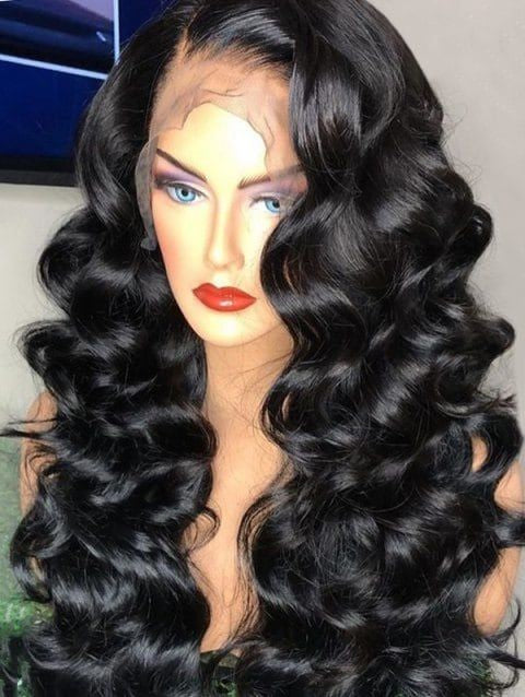 Indian Loose Wave Human Hair Lace Frontal Wig - Jeybeauty