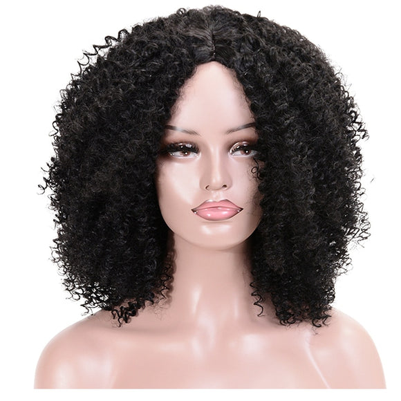 Afro Curly synthetic wigs - Jeybeauty