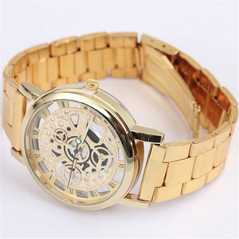 Men Steel Strip Mechanical Gear Watch Analog Watch - Jeybeauty