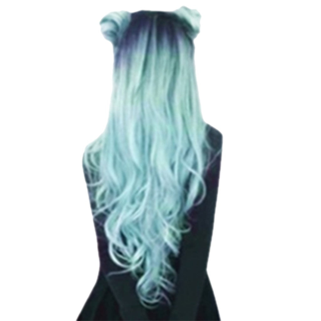 Fashion Synthetic Long Wavy Gradient Dyeing Natural Hair Full Wigs - Jeybeauty