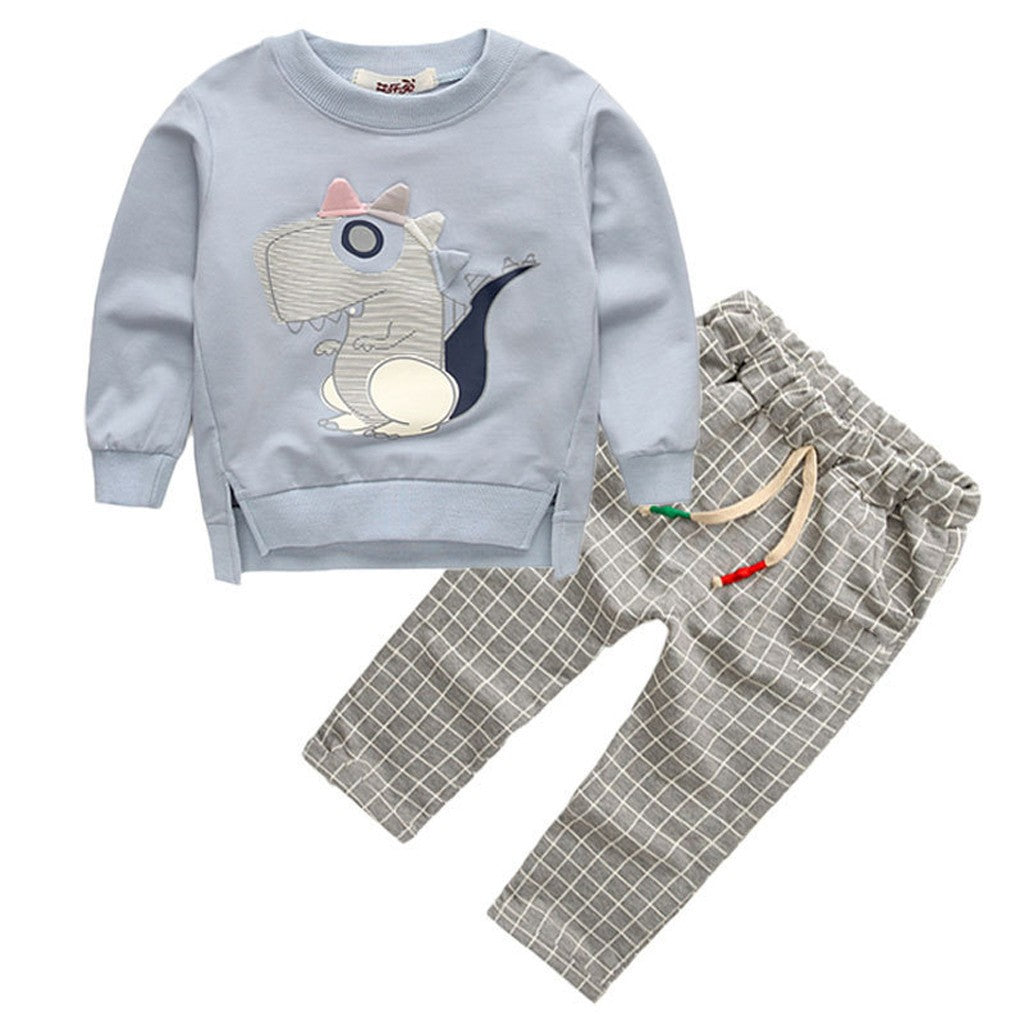 Toddler Kids Baby Boys Sweatshirt Outfits Set - Jeybeauty