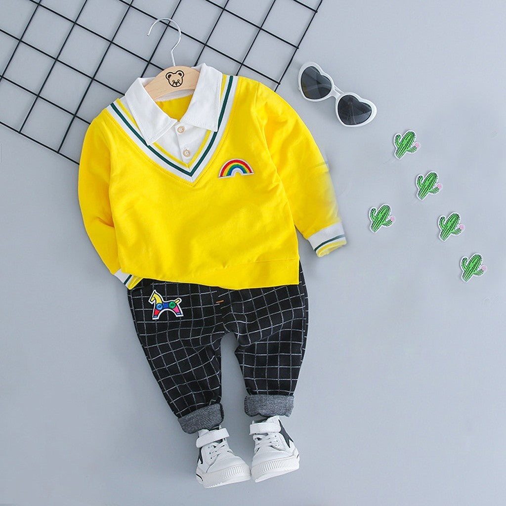 Baby Boys Gentleman Plaid Outfits Set - Jeybeauty