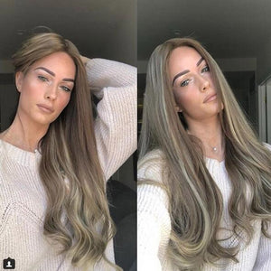 Wavy Dyeing Natural Hair Full Wigs - Jeybeauty