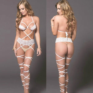 Let Me Love You White Lace Mini Micro Bikinis Swimwear G-string - Jeybeauty