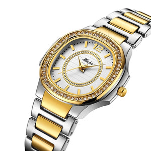 Ladies Luxury Brand Diamond Quartz Gold Wrist Watch - Jeybeauty