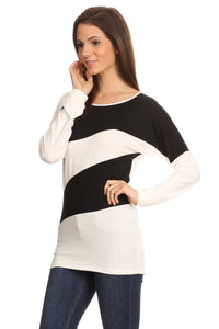 BLACK/IVORY Striped Shirt - Jeybeauty