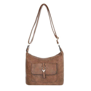 Ladies shoulder bag brown - Jeybeauty