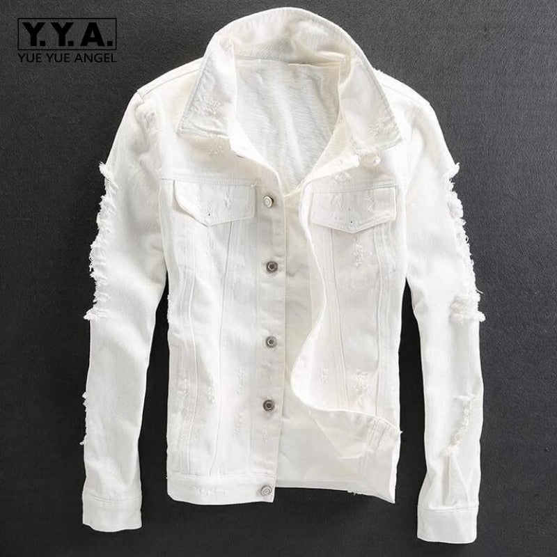 Top Quality Classic Hole Ripped Jacket - Jeybeauty