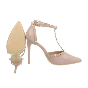 Ladies High Heels Pumps - beige - Jeybeauty