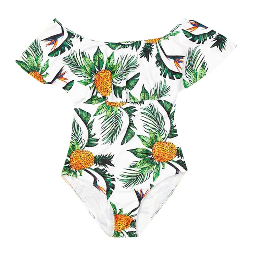 Mommy&Daughter Pineapple Printing Swimsuit - Jeybeauty