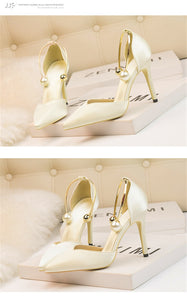 Elegant Soft Silk Pointed Shallow Sandals - Jeybeauty