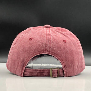 Hot 100% washed cotton unisex letter retro cap - Jeybeauty