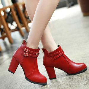 Ankle Dress Boots Sexy High Heels - Jeybeauty