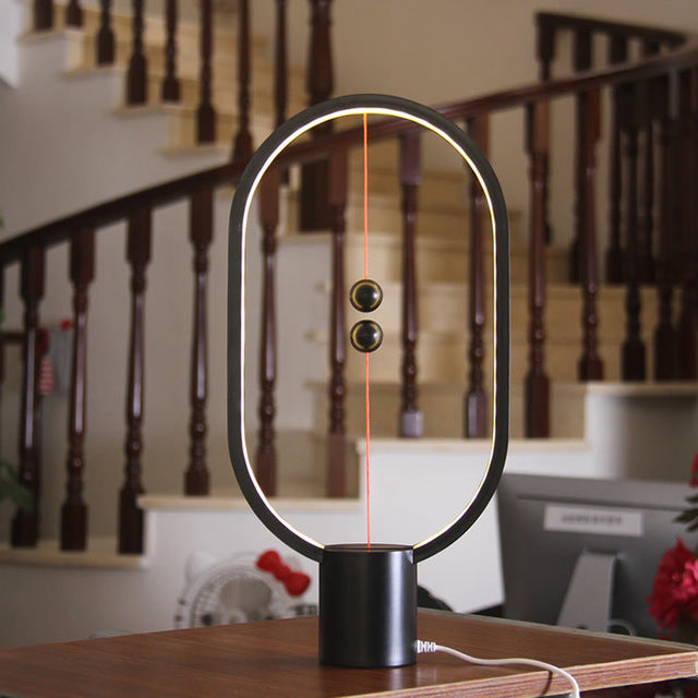LED Table Lamp Ellipse Magnetic Mid-air Switch - Jeybeauty