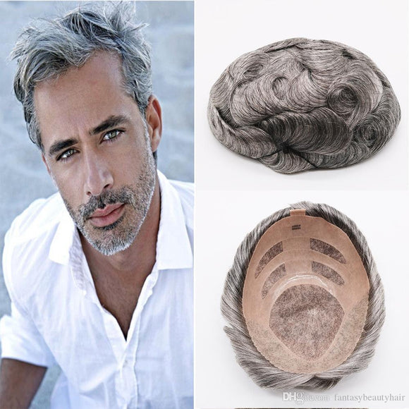 High Quality Natural Mens Hairpieces - Jeybeauty