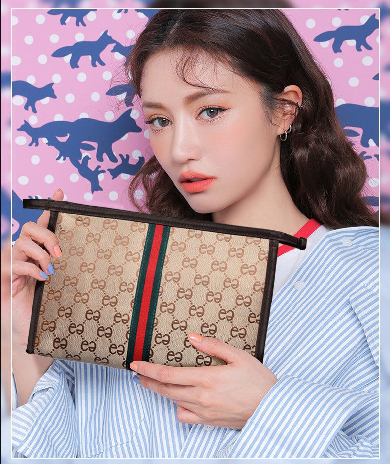 Cat Pattern Large Capacity Makeup Case - Jeybeauty