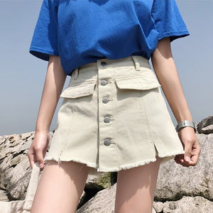 High Waist Denim Shorts Skirts - Jeybeauty