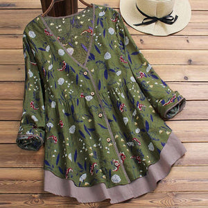 Ladies Floral Print Blouse - Jeybeauty
