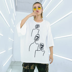 Printed Loose T-shirt - Jeybeauty
