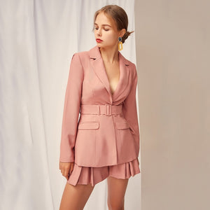 Designing Eleagnt Sweet Suits Blazer Sets - Jeybeauty