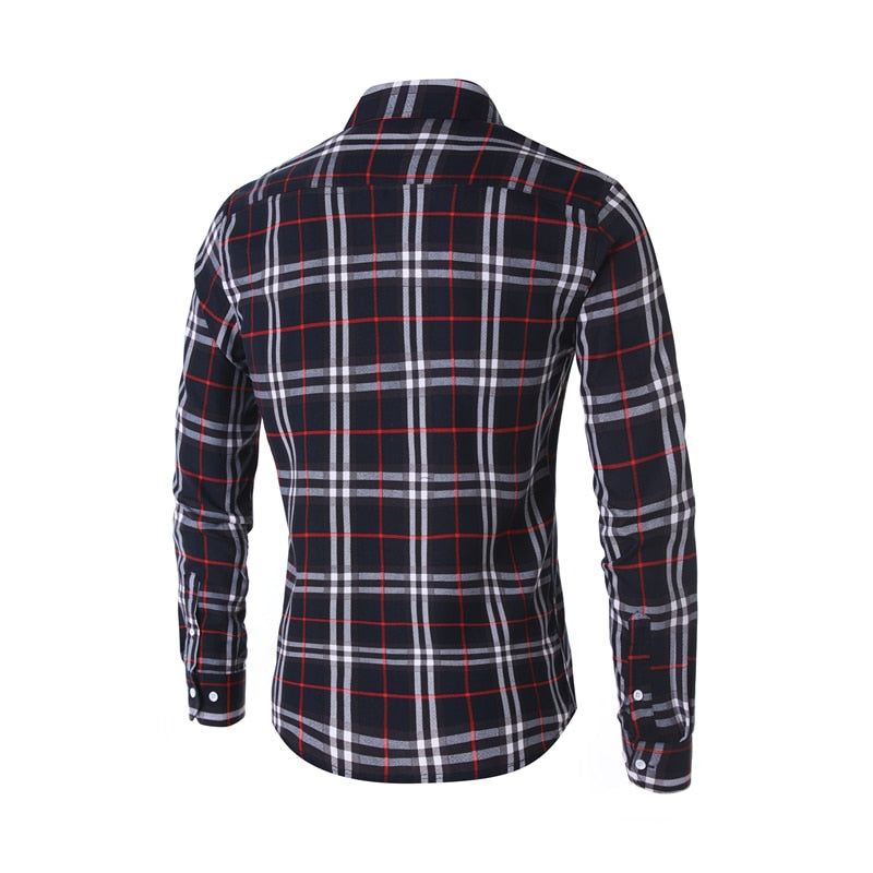 Classic Plaid Men Print Shirt - Jeybeauty