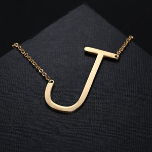 Classcial Stainless Steel Letter Initial Pendant Necklace - Jeybeauty