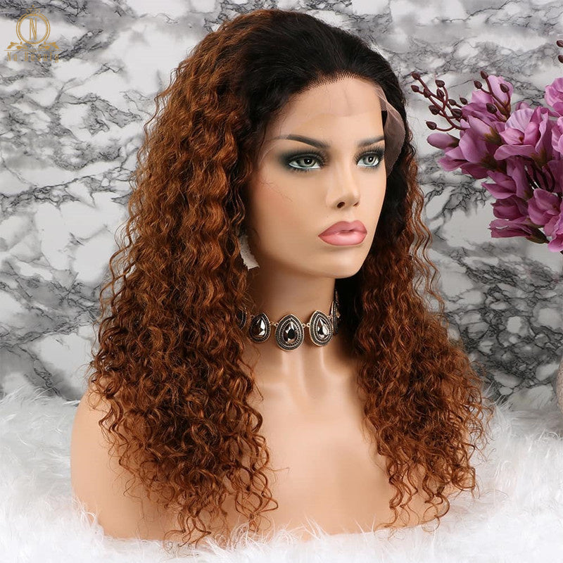 Ombre Deep Wave 360 Lace Front Wig - Jeybeauty