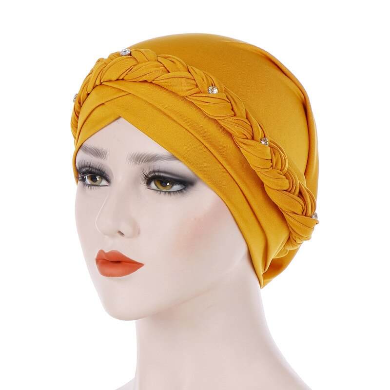 Point Drill Milk Silk Twist Head Wrap - Jeybeauty