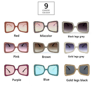 Love Heart  Temple Bling Stones Shades - Jeybeauty