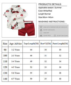 Floral Baby Boy Gentleman Outfits Suit - Jeybeauty