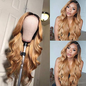 Ombre Color Brazilian Remy Hair Wigs With Bleach Knot - Jeybeauty