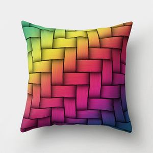 Geometric Feather Pillow Case - Jeybeauty