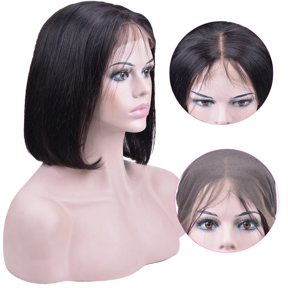 Mink Virgin Malaysian Straight Short Bob Wigs - Jeybeauty