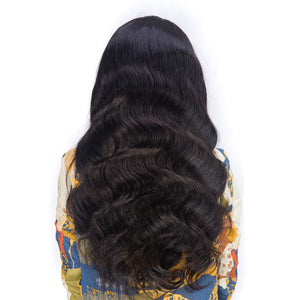 Mink Virgin Brazilian Body Wave Lace frontal wig - Jeybeauty