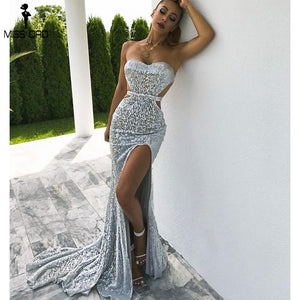 Elegant Backless High Split Maxi  Dress - Jeybeauty