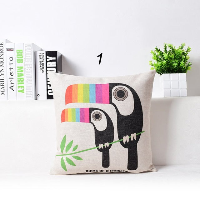Animal Pattern Sausage Pillow Case - Jeybeauty