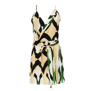 Print Wide Leg Playsuit - Jeybeauty