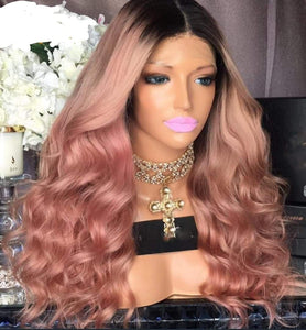 Curly Wavy Ombre Virgin Hair Lace Front Human Hair with Baby Hair - Jeybeauty