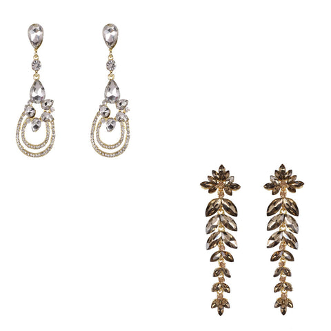 Steorra Jewels Glass Drop Earrings combo set for Women & Girls - Steorra Jewels