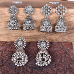 Sterroa Jewels Traditional Wedding Style Hanging Long Jhumki bollywood Style Combo Set of 3 Earrings